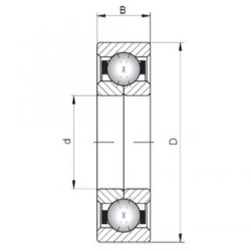 ISO QJ240 angular contact ball bearings