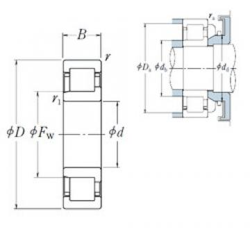 280 mm x 420 mm x 65 mm  NSK NJ1056 cylindrical roller bearings