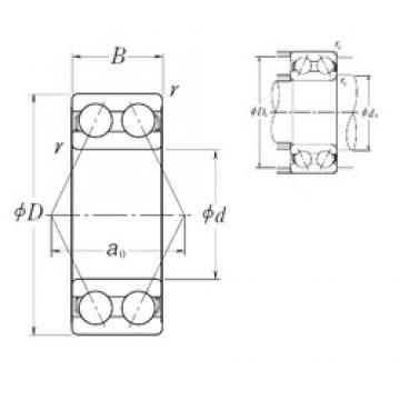 30 mm x 72 mm x 30,2 mm  NSK 5306 angular contact ball bearings