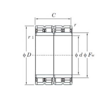 530 mm x 780 mm x 570 mm  KOYO 106FC78570 cylindrical roller bearings