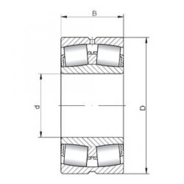 1060 mm x 1280 mm x 165 mm  ISO 238/1060W33 spherical roller bearings