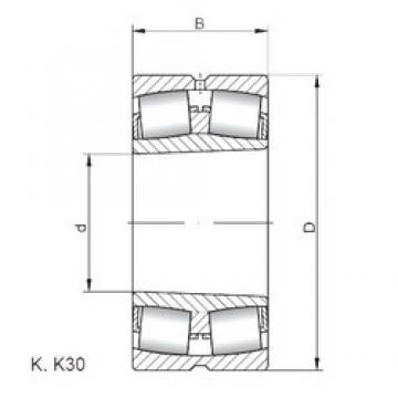 1000 mm x 1320 mm x 236 mm  ISO 239/1000 KW33 spherical roller bearings