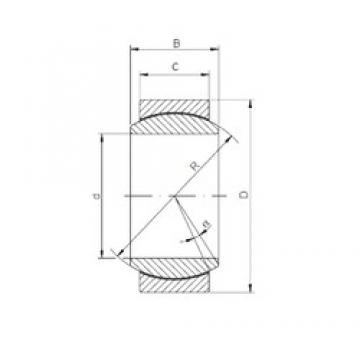 180 mm x 260 mm x 105 mm  ISO GE180UK-2RS plain bearings