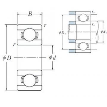 3,175 mm x 12,7 mm x 4,366 mm  NSK R 2A deep groove ball bearings