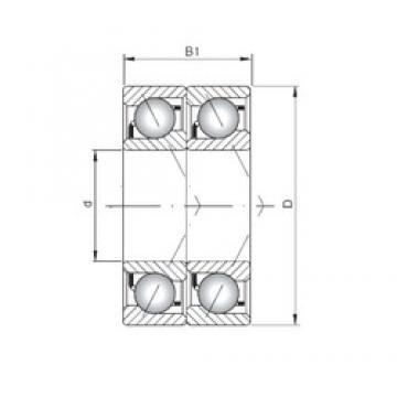 ISO 7038 ADT angular contact ball bearings
