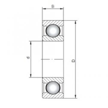 40 mm x 52 mm x 7 mm  ISO 61808 deep groove ball bearings