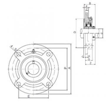 85 mm x 186 mm x 96 mm  ISO UCFCX17 bearing units