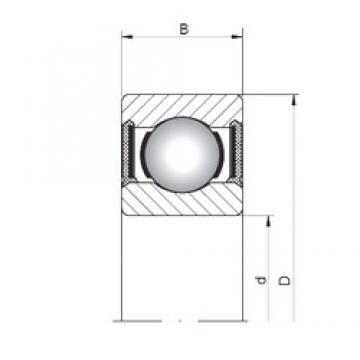 3 mm x 7 mm x 3 mm  ISO 618/3-2RS deep groove ball bearings