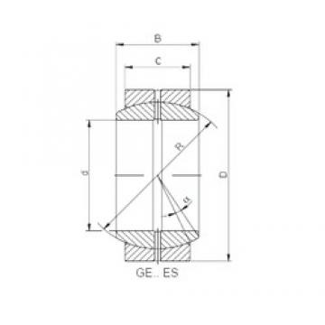 70 mm x 105 mm x 49 mm  ISO GE 070 ES-2RS plain bearings