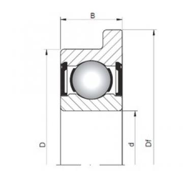 6 mm x 10 mm x 3 mm  ISO FL617/6 ZZ deep groove ball bearings