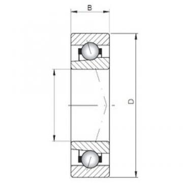 ISO 71844 A angular contact ball bearings