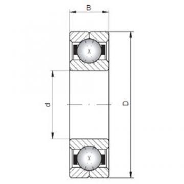 ISO Q214 angular contact ball bearings