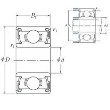 5 mm x 16 mm x 5 mm  ISO 625-2RS deep groove ball bearings