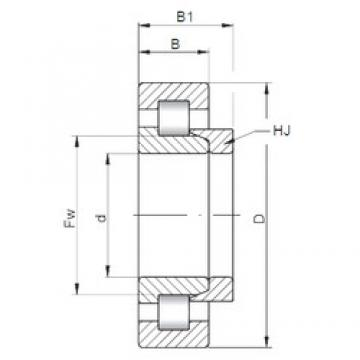 180 mm x 320 mm x 52 mm  ISO NH236 cylindrical roller bearings