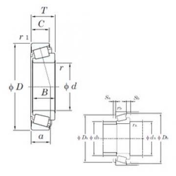 55,562 mm x 127 mm x 36,512 mm  KOYO HM813840/HM813810 tapered roller bearings