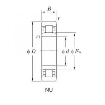 70 mm x 150 mm x 35 mm  KOYO NU314 cylindrical roller bearings