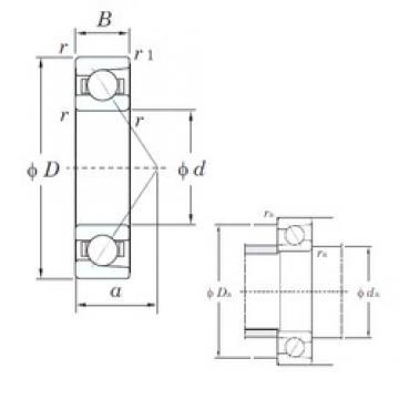 75 mm x 115 mm x 20 mm  KOYO 7015B angular contact ball bearings