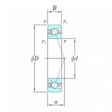 55 mm x 90 mm x 18 mm  KOYO 3NCHAD011CA angular contact ball bearings