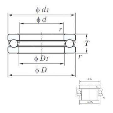 KOYO 51248 thrust ball bearings
