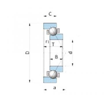NSK BA290-3A angular contact ball bearings