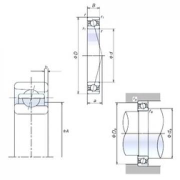 60 mm x 95 mm x 18 mm  NSK 60BER10S angular contact ball bearings
