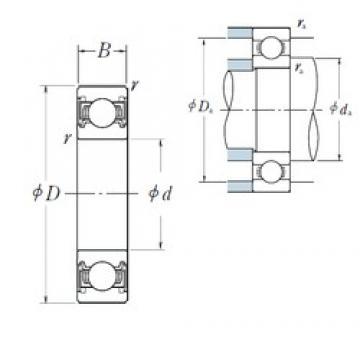 85 mm x 120 mm x 18 mm  NSK 6917VV deep groove ball bearings