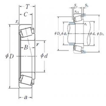 80 mm x 125 mm x 36 mm  NSK HR33016J tapered roller bearings