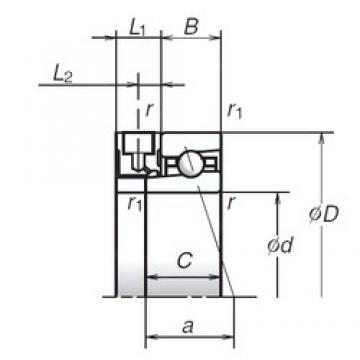 95 mm x 145 mm x 24 mm  NSK 95BNR10XE angular contact ball bearings