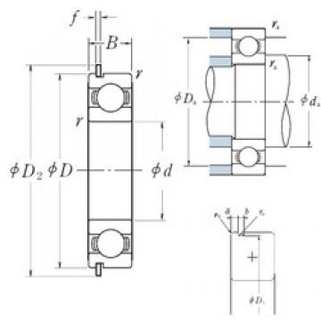 50 mm x 72 mm x 12 mm  NSK 6910NR deep groove ball bearings