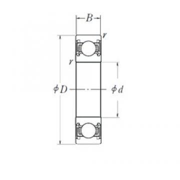 20 mm x 47 mm x 14 mm  NSK 6204DDU deep groove ball bearings