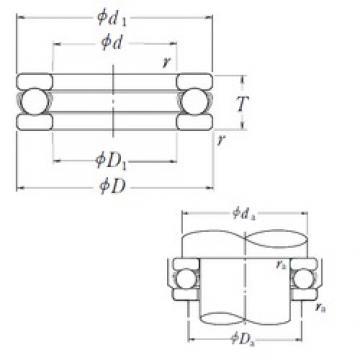 NSK 51332X thrust ball bearings