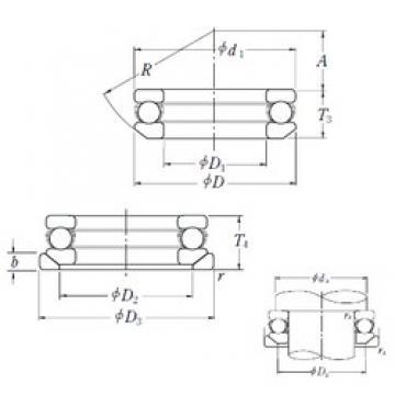 NSK 53334XU thrust ball bearings