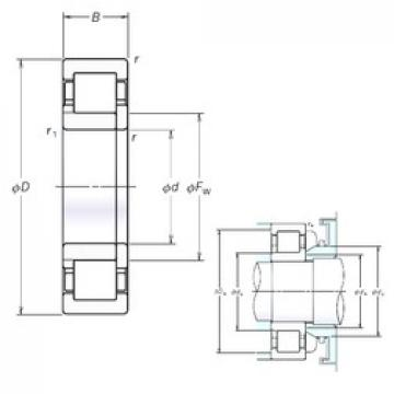30 mm x 72 mm x 19 mm  NSK NUP306EM cylindrical roller bearings