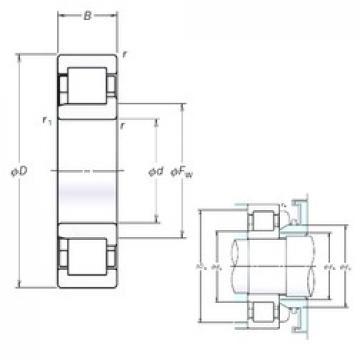 120 mm x 260 mm x 86 mm  NSK NJ2324EM cylindrical roller bearings
