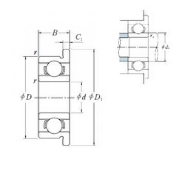 4 mm x 16 mm x 5 mm  ISO F634 deep groove ball bearings