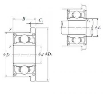 8 mm x 22 mm x 7 mm  ISO F608-2RS deep groove ball bearings