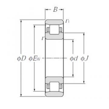 360 mm x 540 mm x 82 mm  NTN N1072 cylindrical roller bearings