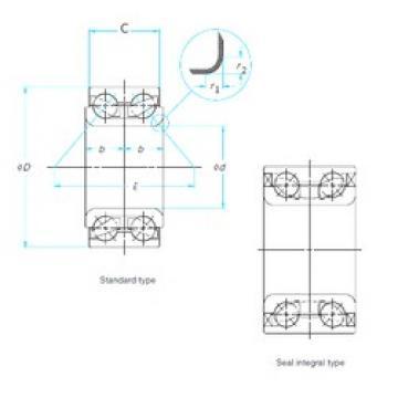 35 mm x 72 mm x 34 mm  NSK 35BWD01 angular contact ball bearings