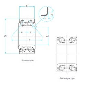 35 mm x 76 mm x 54 mm  NSK 35BWD10BCA36 angular contact ball bearings